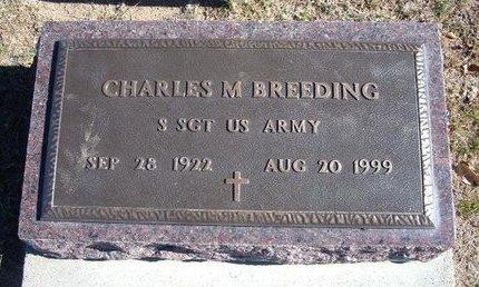 BREEDING, CHARLES M (VETERAN WWII) - Stevens County, Kansas   CHARLES M (VETERAN WWII) BREEDING - Kansas Gravestone Photos