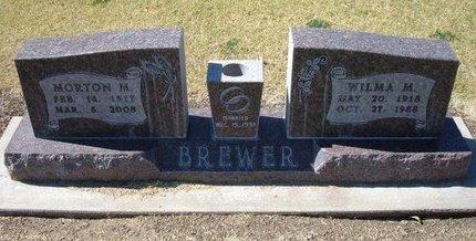 BREWER, MORTON M - Stevens County, Kansas   MORTON M BREWER - Kansas Gravestone Photos