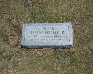 BRICKER, ALFRED J, JR - Stevens County, Kansas   ALFRED J, JR BRICKER - Kansas Gravestone Photos
