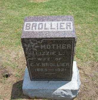 BROLLIER, LIZZIE L - Stevens County, Kansas | LIZZIE L BROLLIER - Kansas Gravestone Photos