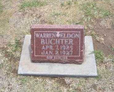 BUCHTER, WARREN ELDON - Stevens County, Kansas | WARREN ELDON BUCHTER - Kansas Gravestone Photos