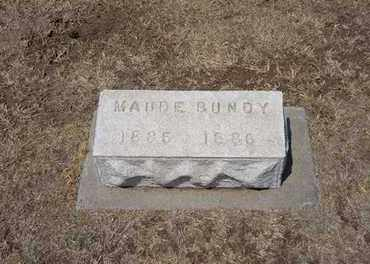 BUNDY, MAUDE - Stevens County, Kansas | MAUDE BUNDY - Kansas Gravestone Photos