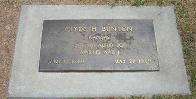 BUNTON, CLYDE HARVEY   (VETERAN WWI) - Stevens County, Kansas | CLYDE HARVEY   (VETERAN WWI) BUNTON - Kansas Gravestone Photos