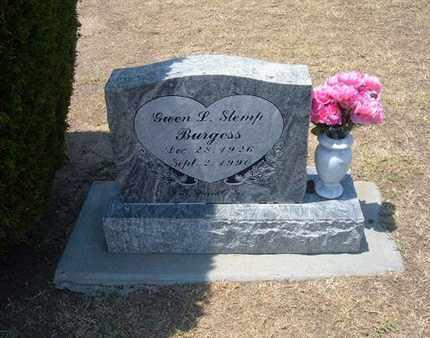 SLEMP BURGESS, GWEN LEOLA - Stevens County, Kansas | GWEN LEOLA SLEMP BURGESS - Kansas Gravestone Photos