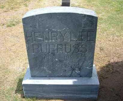 BURRUSS, HENRY LEE - Stevens County, Kansas   HENRY LEE BURRUSS - Kansas Gravestone Photos