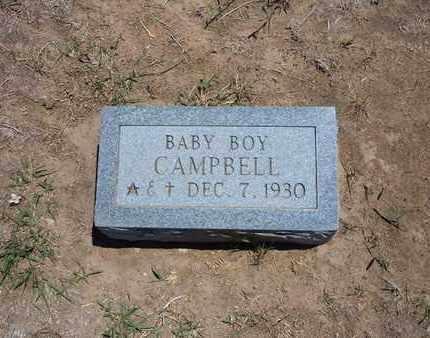 CAMPBELL, BABY BOY - Stevens County, Kansas | BABY BOY CAMPBELL - Kansas Gravestone Photos