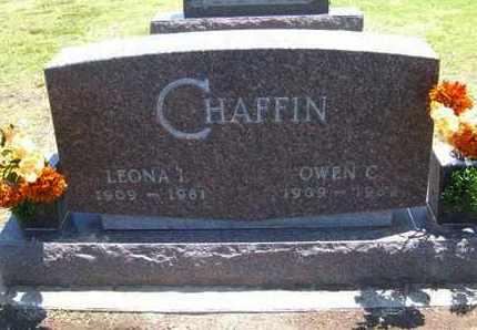 CHAFFIN, OWEN C - Stevens County, Kansas | OWEN C CHAFFIN - Kansas Gravestone Photos