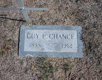 CHANCE, GUY E - Stevens County, Kansas   GUY E CHANCE - Kansas Gravestone Photos