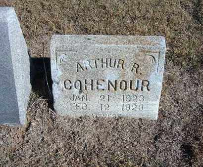COHENOUR, ARTHUR R - Stevens County, Kansas | ARTHUR R COHENOUR - Kansas Gravestone Photos