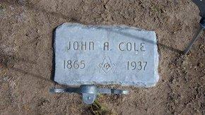 COLE, JOHN A - Stevens County, Kansas | JOHN A COLE - Kansas Gravestone Photos