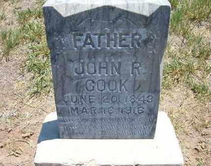 COOK, JOHN R - Stevens County, Kansas | JOHN R COOK - Kansas Gravestone Photos
