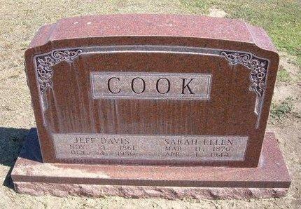 COOK, JEFF DAVIS - Stevens County, Kansas | JEFF DAVIS COOK - Kansas Gravestone Photos