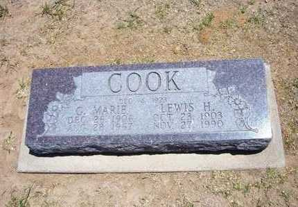 COOK, G MARIE - Stevens County, Kansas | G MARIE COOK - Kansas Gravestone Photos