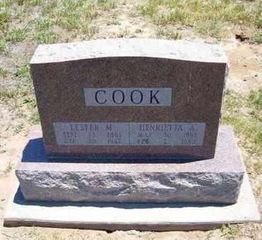 COOK, LESTER M - Stevens County, Kansas | LESTER M COOK - Kansas Gravestone Photos