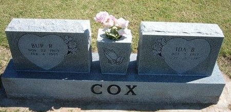 COX, BUR RAYMOND - Stevens County, Kansas | BUR RAYMOND COX - Kansas Gravestone Photos