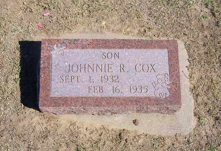 COX, JOHNNIE RHYLOW - Stevens County, Kansas | JOHNNIE RHYLOW COX - Kansas Gravestone Photos
