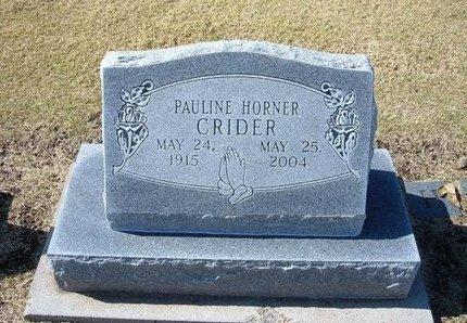 HORNER CRITES, PAULINE MAY - Stevens County, Kansas   PAULINE MAY HORNER CRITES - Kansas Gravestone Photos