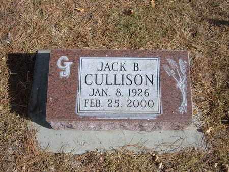 CULLISON, JACK B - Stevens County, Kansas | JACK B CULLISON - Kansas Gravestone Photos
