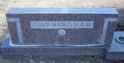 CUNNINGHAM, FAMILY STONE - Stevens County, Kansas   FAMILY STONE CUNNINGHAM - Kansas Gravestone Photos