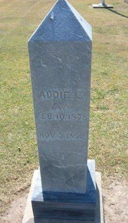 CURRY, ADDIE L - Stevens County, Kansas | ADDIE L CURRY - Kansas Gravestone Photos