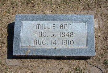 CURRY, MILLIE ANN - Stevens County, Kansas   MILLIE ANN CURRY - Kansas Gravestone Photos