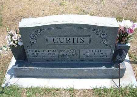 HORTON CURTIS, CORA ELLEN - Stevens County, Kansas | CORA ELLEN HORTON CURTIS - Kansas Gravestone Photos