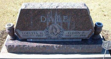 DALE, ELDON F - Stevens County, Kansas   ELDON F DALE - Kansas Gravestone Photos