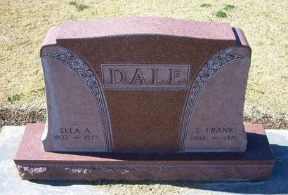 DALE, ELLA A - Stevens County, Kansas   ELLA A DALE - Kansas Gravestone Photos