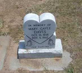 DAVIS, MARY GAYLE - Stevens County, Kansas   MARY GAYLE DAVIS - Kansas Gravestone Photos