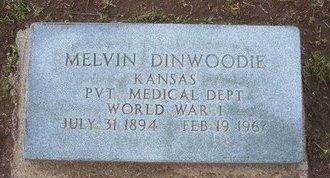 DINWOODIE, MELVIN  (VETERAN WWI) - Stevens County, Kansas   MELVIN  (VETERAN WWI) DINWOODIE - Kansas Gravestone Photos