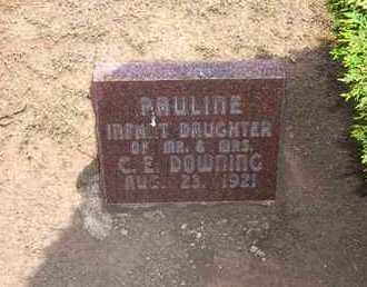 DOWNING, PAULINE - Stevens County, Kansas | PAULINE DOWNING - Kansas Gravestone Photos