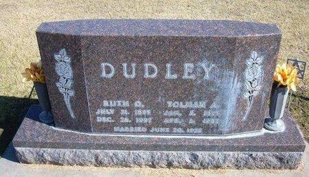HARPER DUDLEY, RUTH OLIVE - Stevens County, Kansas   RUTH OLIVE HARPER DUDLEY - Kansas Gravestone Photos