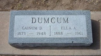DUMCUM, ELLA ARDELLA - Stevens County, Kansas | ELLA ARDELLA DUMCUM - Kansas Gravestone Photos