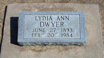 DWYER, LYDIA ANN - Stevens County, Kansas | LYDIA ANN DWYER - Kansas Gravestone Photos