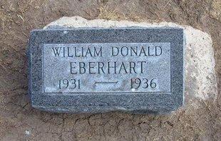 EBERHART, WILLIAM DONALD - Stevens County, Kansas | WILLIAM DONALD EBERHART - Kansas Gravestone Photos