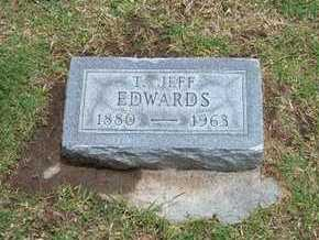 EDWARDS, T JEFF - Stevens County, Kansas | T JEFF EDWARDS - Kansas Gravestone Photos