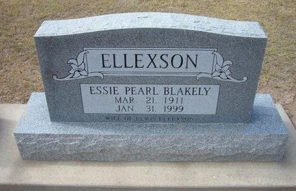 ELLEXSON, ESSIE PEARL - Stevens County, Kansas   ESSIE PEARL ELLEXSON - Kansas Gravestone Photos