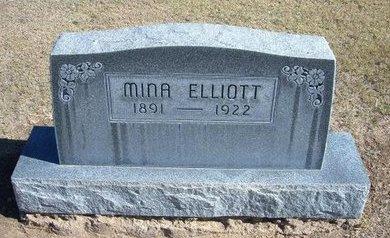 ELLIOTT, MINA NANCY - Stevens County, Kansas   MINA NANCY ELLIOTT - Kansas Gravestone Photos