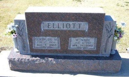 ELLIOTT, GERTRUDE M - Stevens County, Kansas | GERTRUDE M ELLIOTT - Kansas Gravestone Photos