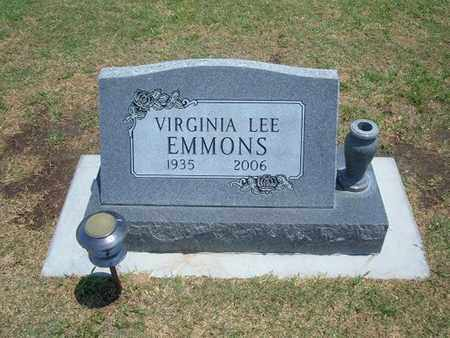 EMMONS, VIRGINIA LEE - Stevens County, Kansas | VIRGINIA LEE EMMONS - Kansas Gravestone Photos