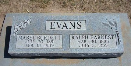 EVANS, RALPH EARNEST - Stevens County, Kansas | RALPH EARNEST EVANS - Kansas Gravestone Photos