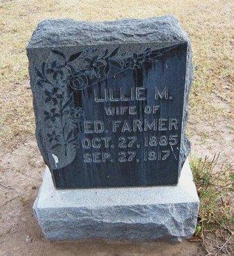 FARMER, LILLIE M - Stevens County, Kansas   LILLIE M FARMER - Kansas Gravestone Photos