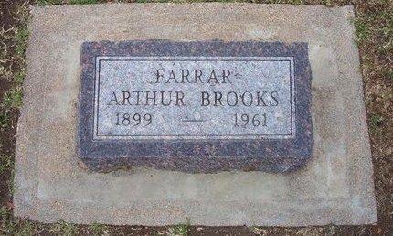 FARRAR, ARTHUR BROOKS - Stevens County, Kansas | ARTHUR BROOKS FARRAR - Kansas Gravestone Photos