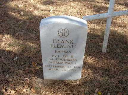 FLEMING, FRANK  (VETERAN WWI) - Stevens County, Kansas | FRANK  (VETERAN WWI) FLEMING - Kansas Gravestone Photos