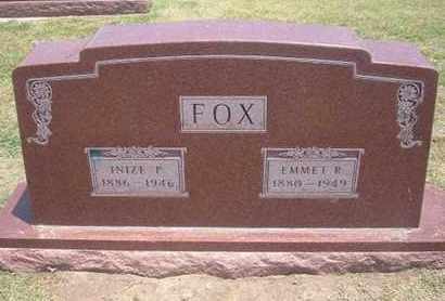 FOX, EMMET R - Stevens County, Kansas | EMMET R FOX - Kansas Gravestone Photos