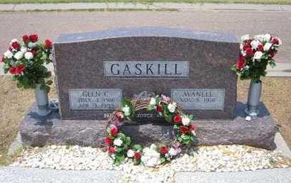GASKILL, GLEN C - Stevens County, Kansas | GLEN C GASKILL - Kansas Gravestone Photos