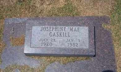 DOWNING GASKILL, JOSEPHINE MAE - Stevens County, Kansas | JOSEPHINE MAE DOWNING GASKILL - Kansas Gravestone Photos