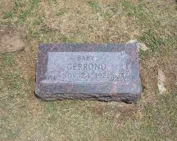 GERROND, BABY - Stevens County, Kansas   BABY GERROND - Kansas Gravestone Photos