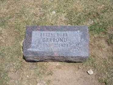 GERROND, BETTY - Stevens County, Kansas | BETTY GERROND - Kansas Gravestone Photos
