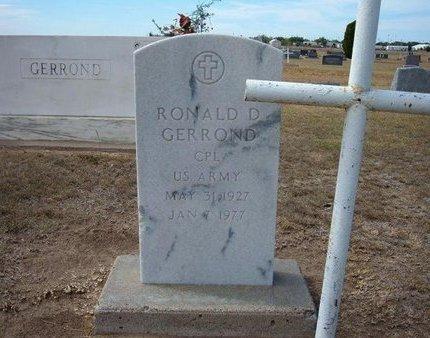 GERROND, RONALD D   (VETERAN) - Stevens County, Kansas | RONALD D   (VETERAN) GERROND - Kansas Gravestone Photos